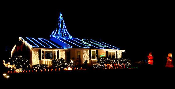 Newburyport:  House decked out for Christmas on Rawson's Lane in Newburyport. Jim Vaiknoras/Staff photo