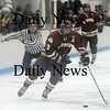 Reading: Kyle McElroy (3) of Newburyport streaks down the wing during Wednesday nights game against North Reading. The Clippers went on to win 5-1. Photo by Ben Laing/Newburyport Daily News Wednesday February 11, 2009.