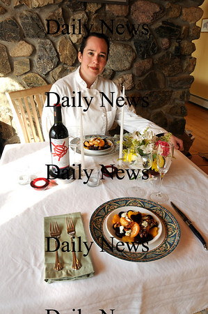 Georgetown:<br /> Georgetown resident Mary Reilly offers tips and menu selections for a romantic Valentine's dinner.<br /> Photo by Bryan Eaton/Newburyport Daily News Friday, February 06, 2009