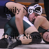 Byfield: Triton's Brendan O'Neil, top, battles with Pentucket's Andy Stasiak in the 171 pound class last night in Byfield. Photo by Bryan Eaton/Newburyport Daily News  Wednesday February 4, 2008.