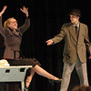 "Newbury:<br /> Triton High School students Margaret Leahey, left, and Lowell Wahtera rehearse a scene in the spring musical ""Zombie Prom"" which will be performed March 5-7 at 7:00pm and March 8 at 3:00pm in the school's auditorium. The show, directed by Sharon Riordan, with musical direction by Jen Conant and costumes by Lisa Johnson, is described as high-energy ""explosion"" of 1950's high school antics.<br /> Photo by Bryan Eaton/Newburyport Daily News Thursday, February 26, 2009"