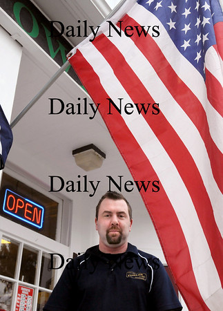 Newburyport:<br /> Rick Cushman, a manager at Fowle's Market in Newburyport, helped in the search for victims in the 9/11 attacks in New York City and helped find the last survivor.<br /> Photo by Bryan Eaton/Newburyport Daily News Wednesday, February 18, 2009