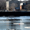 Newburyport:<br /> Ice floes head down the Merrimack River past the Custom House Maritime Museum on Tuesday as temperatures get warmer and the daylight longer.<br /> Photo by Bryan Eaton/Newburyport Daily News Tuesday, February 17, 2009