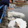 Salisbury:<br /> US Coast Guard Seaman Tatiane Meshoyrer photographs a young harbor seal situated on an ice floe near the Fishtale Diner near Ring's Island in Salisbury. Several people were concerned the mammal may be injured and called the Coast Guard to investigate. <br /> Photo by Bryan Eaton/Newburyport Daily News Wednesday, February 25, 2009