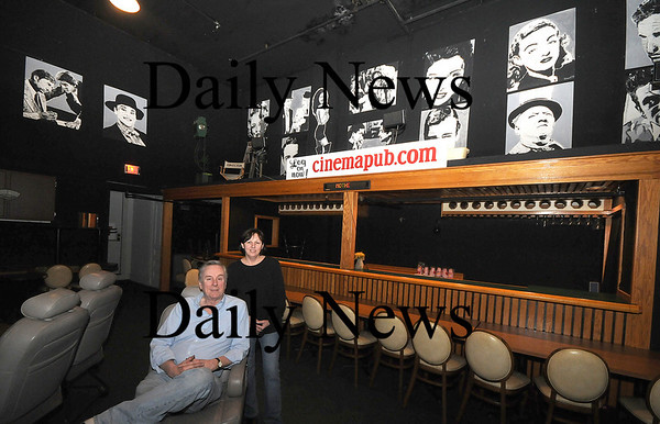 Amesbury:Brian and Donna Turbity owners of the Stage Two Cinema in Amesbury.photo by Jim Vaiknoras. Newburyport Daily News. February 13, 2009