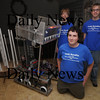 Newburyport:Ryan and Josh Gershuny and Eric Morris part of a team of Triton students entering their robot, 2589 into a regional compatition.<br /> photo by Jim Vaiknoras. Newburyport Daily News. February 15, 2009
