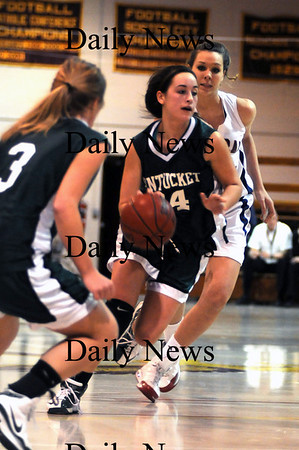 Boston: Pentucket's Ashley Viselli drives to the hoop during the Sachems 51-48 loss Sunday to Central Catholic in the 19th annual Comcast Tournament at Boston Collage High.photo by Jim Vaiknoras/Newburyport Daily News. February 15, 2009.
