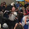 Newburyport:Tom Ricardi holds a bald eagle during a presentation at Newburyport City Hall Saturday as part of the 4th annual Newburyport Eagle Festival photo by Jim Vaiknoras/Newburyport Daily News. February 14, 2009
