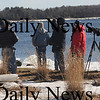 Newburyport:Bird watchers gather on Deer Island in Newburyport to watch eagles on the river  Saturday as part of the 4th annual Newburyport Eagle Festival photo by Jim Vaiknoras/Newburyport Daily News. February 14, 2009