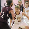 Newburyport: Newburyport's Kyle Uhlig (10) keeps a sharp eye on Rockport's Michael Akers (22) during Wednesday's game at NHS. Photo by Ben Laing/Newburyport Daily News Wednesday January 7, 2009.