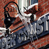Newburyport: Icicles hang from signs all along downtown, like these on the Upper Crust sign on Inn Street. Photo by Ben Laing/Newburyport Daily News Tuesday January 20, 2009.