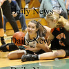 West Newbury: Pentucket's Andrea Attenasio (44) dives to the floor for a loose ball during Tuesday nights game against Ipswich at West Newbury. Photo by Ben Laing/Newburyport Daily News Tuesday January 20, 2009.