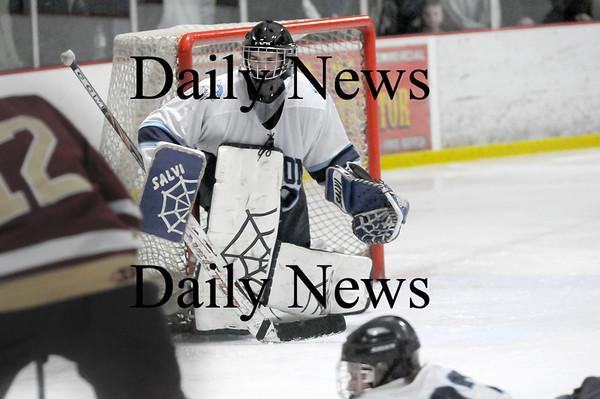 Newburyport: Triton goalie Matt Beevers (30). Photo by Ben Laing/Newburyport Daily News Saturday January 17, 2009.