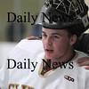 Newburyport: Newburyport freshman goalie, Chris Eiserman. Photo by Ben Laing/Newburyport Daily News Saturday January 31, 2009.