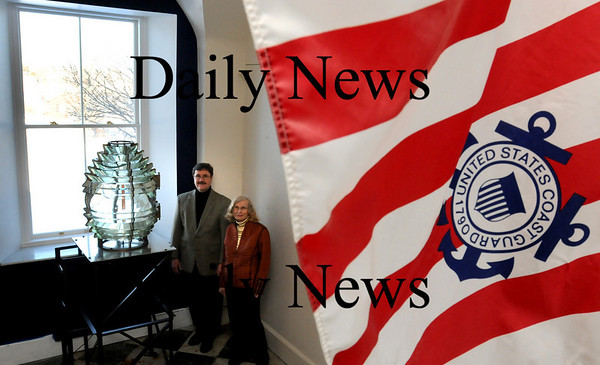 Newburyport:<br /> Mark Guay, and Caroleann McPherson of the Custom House Maritime Museum hope to get an annex built behind the building, outside window, to showcase a U.S. Coast Guard exhibit, just one of the future visions for the museum.<br /> Photo by Bryan Eaton/Newburyport Daily News Tuesday, January 27, 2009