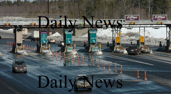 Hampton, N.H.: Toll booths in Hampton, N.H. on Interstate 95.<br /> Photo by Bryan Eaton/ Newburyport Daily News   Thursday January 29, 2008.