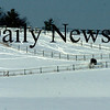 Amesbury:<br /> Horses create a maze of paths in the snow as they look for dried grass beneath, in a view off Woodman Road in Amesbury near the South Hampton town line.<br /> Photo by Bryan Eaton/Newburyport Daily News Tuesday, January 20, 2009