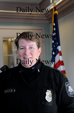 Newburyport:<br /> Newburyport police officer Nora Duggan is this year's recipient of the Nancy E. Peace Action Against Prejudice Award.<br /> Photo by Bryan Eaton/Newburyport Daily News Wednesday, January 14, 2009