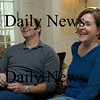Newbury: Husband and wife Stephen Faria and Deidre Girard talk about writing and directing each other's plays. Photo by Bryan Eaton/Newburyport Daily News  Wednesday, January 28, 2009.