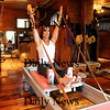 Newburyport:<br /> Clare Dunchy in her Pilates studio in Newburyport.<br /> Photo by Bryan Eaton/Newburyport Daily News Thursday, January 08, 2009