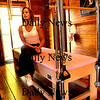 Newburyport:<br /> Clare Dunchy turned an old carriage barn into her Pilates studio.<br /> Photo by Bryan Eaton/Newburyport Daily News Friday, January 09, 2009