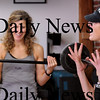Amesbury:<br /> Fuel Training Studio owners Julie Bokat, left, and Jeanne Carter get their excercise class motivated.<br /> Photo by Bryan Eaton/Newburyport Daily News Thursday, January 08, 2009