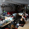 Amesbury:<br /> Students in art teacher Susan Olsen's homeroom class watch President Obama's Inaugural Address at Amesbury Middle School.<br /> Photo by Bryan Eaton/Newburyport Daily News Tuesday, January 20, 2009