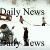 Amesbury:<br /> Children towing their tubes to the lift at Amesbury Sports Park go past an idle snowmaking machine Tuesday afternoon as the temperature was in the mid-30's. The winter blast bringing sub-zero temperatures later this week will be ideal for making snow.<br /> Photo by Bryan Eaton/Newburyport Daily News Tuesday, January 13, 2009