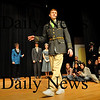 Georgetown:<br /> Jim Savelyev as Conrad Birdie performs in the One Last Kiss scene of Bye Bye Birdie at Georgetown High School.<br /> Photo by Bryan Eaton/Newburyport Daily News Thursday, January 22, 2009