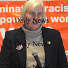 Newburyport: Karen Hudner speaks at the 16 annual Martin Luther King jr Breakfast at  Newburyport High Monday .photo by Jim Vaiknoras/Newburyport Daily News Monday January 19, 2009
