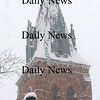Amesbury: The statue of Bartlet in Amesbury and the steeple of St Joseph's church are covered in Sunday morning's snow. photo by Jim Vaiknoras/Newburyport Daily News January 18, 2008