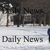 Newburyport: A skier braves the cold Sunday to glide along the white fields of Maudslay in Newburyport..photo by Jim Vaiknoras /Newburyport Daily News  January 25, 2009