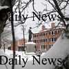 Newburyport:The statue of William Garrison in Brown Square in Newburyport is covered in a layer of white after this weekends snow.photo by Jim Vaiknoras/Newburyport Daily News, Sunday January 11, 2009