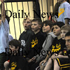 Newburyport: Players in teh Newburyport Developmental League watch the Newburyport high team play Hamilton-Wenham at Newburyport . The boys played their own game at halftime. photo by Jim Vaiknoras/Newburyport Daily News. January 27, 2009