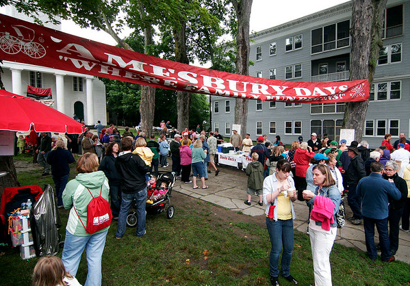 Amesbury: Despite the drizzle and clouds, Amesbury celebrated its annual Amesbury Days celebration Wednesday night, as people came out to enjoy the food and fun. Photo by Ben Laing/Staff Photo