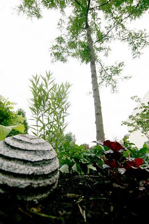 Newburyport: The finished garden at the home of Diane Hansen on Virginia Lane in Newburyport. Photo by Ben Laing/Staff Photo