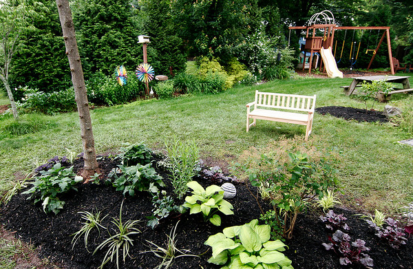Newburyport: The finished garden at the home of Diane Hansen on Virginia Lane in Newburyport. Photo by Ben Laing/Staff Photo