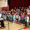 "Newburyport: The first graders at the Bresnehan Elementary School in Newburyport rehearse their rendition of ""Old Macdonald Had a Farm"" for their performance Wednesday night at the school's Farm Night. Photo by Ben Laing/Staff Photo"