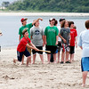 Plum Island: Sixth graders from Amesbury Middle School play some ragball during their lunch break on a class trip to Sandy Point on Tuesday. Photo by Ben Laing/Staff Photo