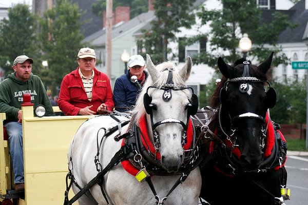 Amesbury: Horse drawn carriage rides, courtesy of Colby Farm in Newburyport, were one of the draws at Wednesday night's kick off to the Amesbury Days celebration. Photo by Ben Laing/Staff Photo