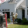 Amesbury: The Amesbury Fire Department responded to a small fire at a home on Beacon Street Monday morning. Photo by Ben Laing/Staff Photo