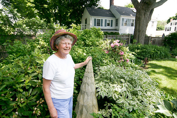 Newburyport: Ann Kemp, a Boardman Street resident, will proudly display her garden in this weekends Garden Tour. Photo by Ben Laing/Staff Photo