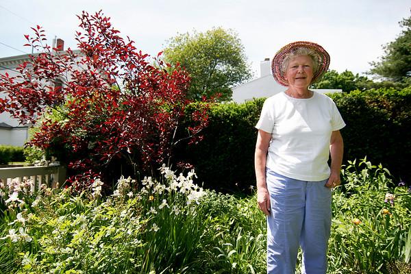 Newburyport: Ann Kemp, a Boardman Street resident, will proudly display her garden during this weekend's Garden Tour. Photo by Ben Laing/Staff Photo