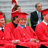 Amesbury: Graduates from the Class of 2009 are all smiles during their ceremony at Landry Stadium in Amesbury Friday night. Photo by Ben Laing/Staff Photo