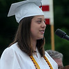 West Newbury: Emily Funk gives the Salutatorian Address at the Pentucket Graduation Saturday morning.Jim Vaiknoras/staff photo