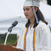 West Newbury: Andrea Attenasio gives the Valedictorian Address at the Pentucket Graduation Saturday morning.Jim Vaiknoras/staff photo