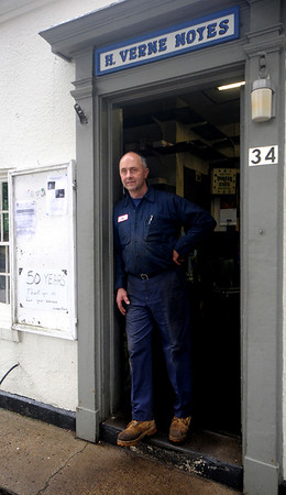 Newbury: JIm Noyes at his Newbury gas station. The family is selling the business after 50 years. Jim Vaiknoras/Staff photo