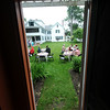 Amesbury: People gather on the back lawn at the Whittier home  in Amesbury for Tea in the Garden  Saturday morning. This was the first on four teas this summer, the other are July 16, August 12, and September 9.Jim Vaiknoras/Staff photo