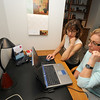 Newburyport:Rebecca Shafir works on peak cognitive performance with client Elaine LeBlanc,<br /> Jim Vaiknoras/staff photo
