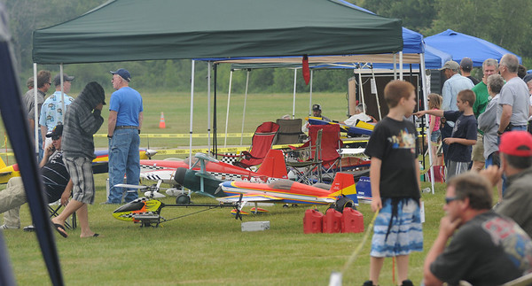 Newbury:  The Northeast Radio Control Model Club and The Cape Ann R/C Club flew scale modelÊmilitary and civilian airplanes and helicopters including aerobatic demonstrations at the Plum Island Airport Saturday afternoon. Jim Vaiknoras/Staff photo